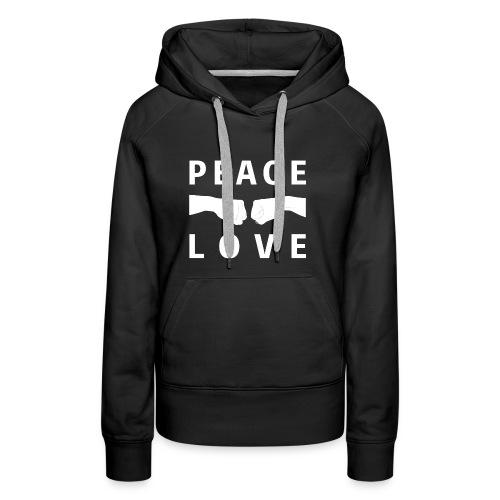 PEACE-LOVE - Felpa Woman 2 - Felpa con cappuccio premium da donna