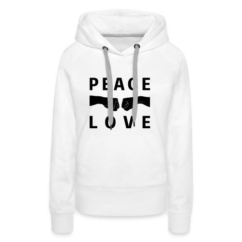 PEACE-LOVE - Felpa Woman 1 - Felpa con cappuccio premium da donna