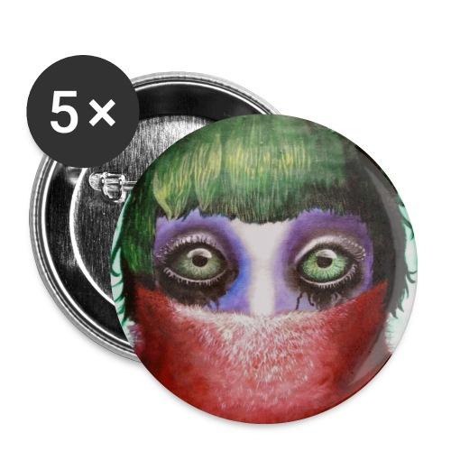 Buttons - Big eyes - Buttons mittel 32 mm (5er Pack)