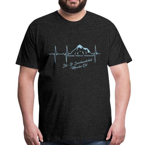 Herzschlag Kontrast Tee m - Männer Premium T-Shirt