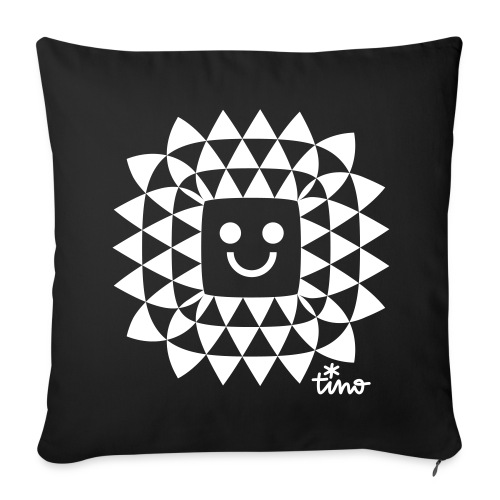 Sun Flower Power blackwhitecontest - Housse de coussin décorative 44 x 44 cm