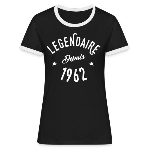 Legendaire depuis 1962 - T-shirt contrasté Femme