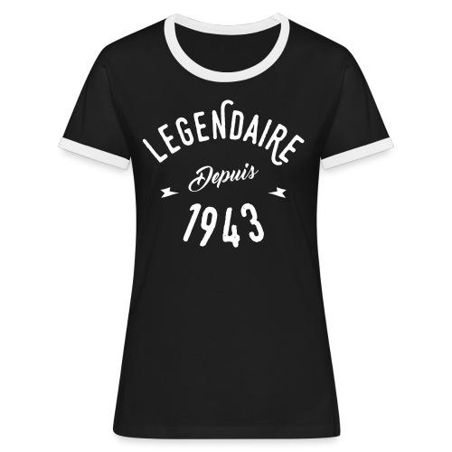 Legendaire depuis 1943 - T-shirt contrasté Femme