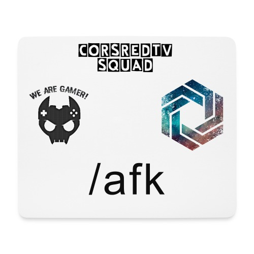 Mousepad (CorsredTv Squad, /afk, We are Gamer) Edition - Mouse Pad (horizontal)