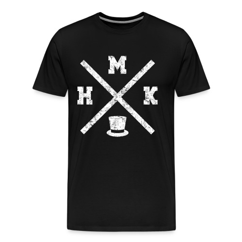 HMK Musta - Miesten premium t-paita