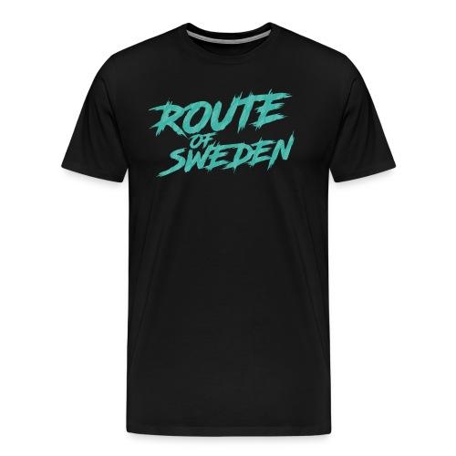 Vuxen Route - Premium-T-shirt herr