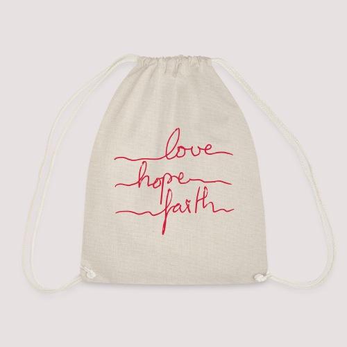 love-hope-faith Bio Sportbeutel  - Turnbeutel