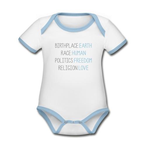 BIRTHRIGHTs designbar. - Baby Bio-Kurzarm-Kontrastbody