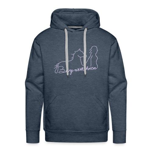 Beingwithhorses (Print Digital Lavendel) - Männer Premium Hoodie