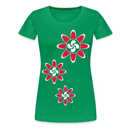 Fleur Basque - T-shirt Premium Femme