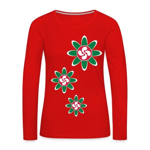 Fleur Basque - T-shirt manches longues Premium Femme