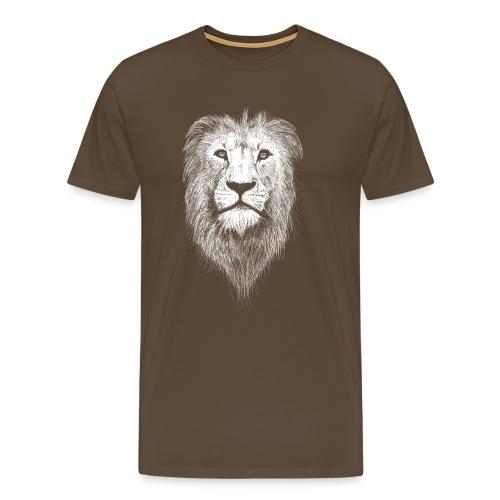 Löwe in weiß - Männer Premium T-Shirt