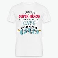 T-shirt Papa Super Héros blanc par Tshirt Family