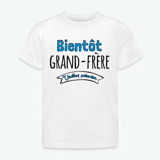 T-shirt Bientot grande frere blanc par Tshirt Family