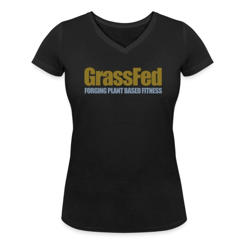 GrassFed two-color all sides - Women's Organic V-Neck T-Shirt by Stanley & Stella