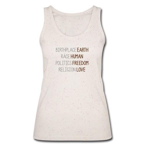 birthplace EARTH designbar. - Frauen Bio Tank Top von Stanley & Stella