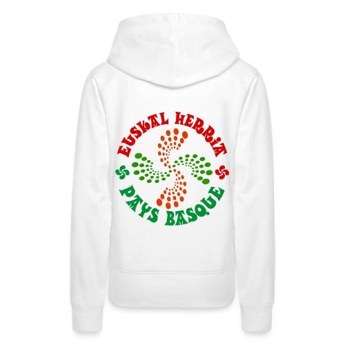 Pays Basque - Sweat-shirt à capuche Premium pour femmes