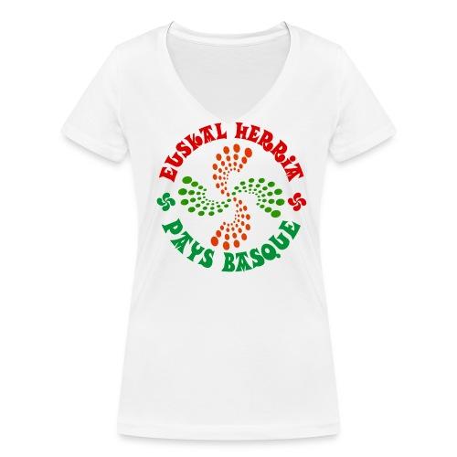 Pays Basque - T-shirt bio col V Stanley & Stella Femme