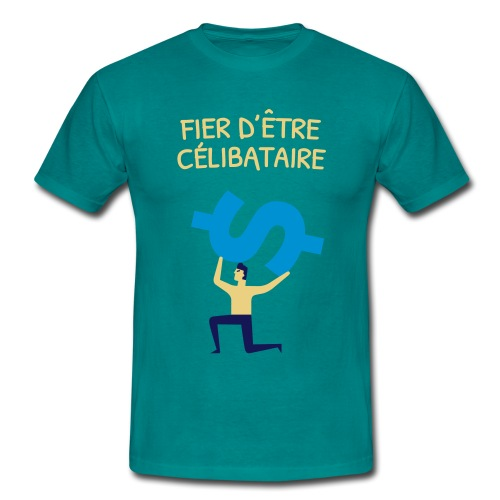 Fier d'être célibataire - T-shirt Homme