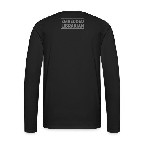 herren-langarm-shirt schwarz mit grauem druck - Männer Premium Langarmshirt