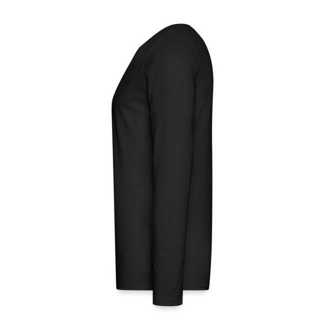 herren-langarm-shirt schwarz mit grauem druck