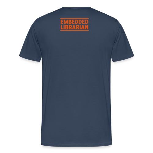 herren-t-shirt blau mit orangenem flock-druck - Männer Premium T-Shirt