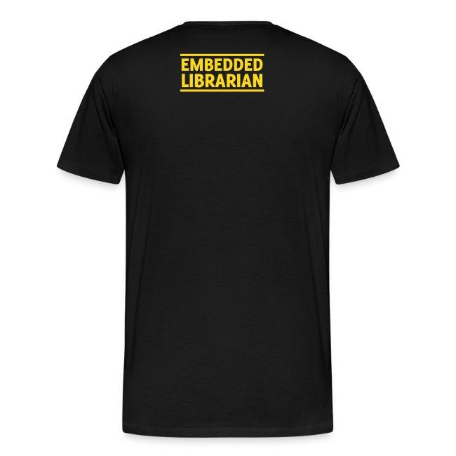 herren-t-shirt schwarz mit gelbem flock-druck