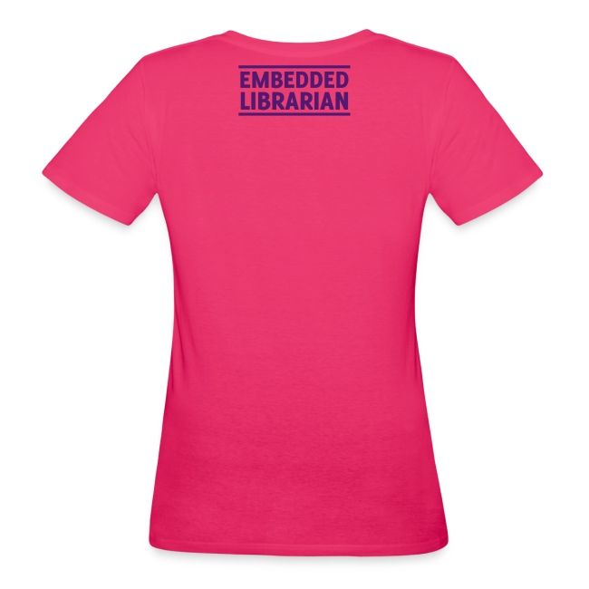damen-t-shirt pink mit lila flock-druck