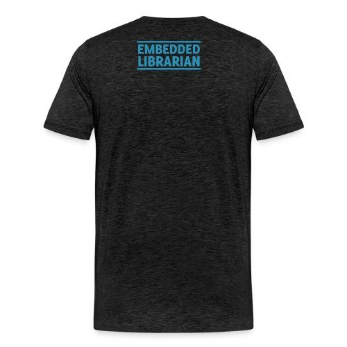 herren-t-shirt anthrazit mit türkisfarbenem flock-druck - Männer Premium T-Shirt