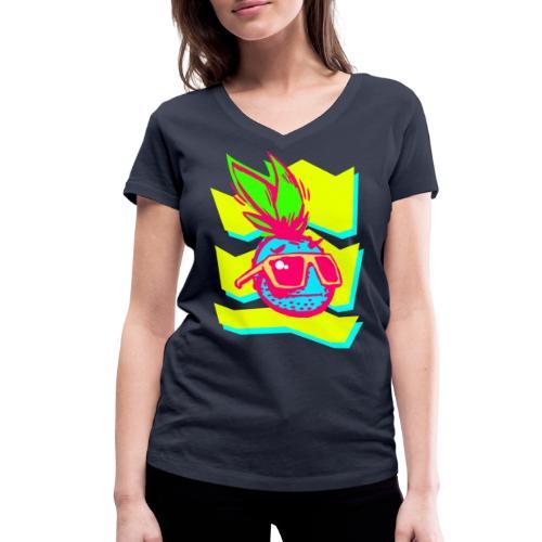 Ananas Design POP - Frauen Bio-T-Shirt mit V-Ausschnitt von Stanley & Stella