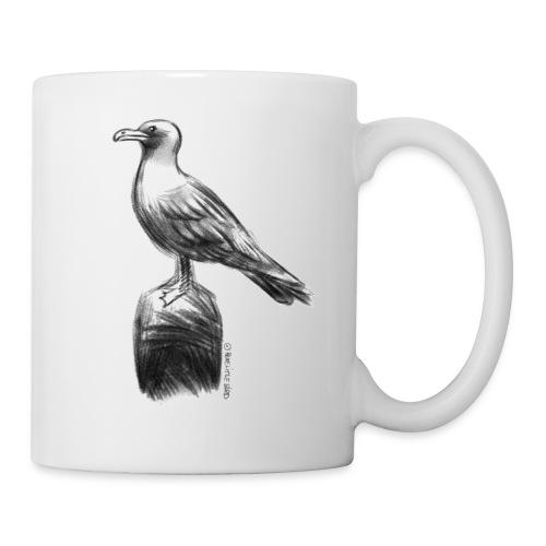 Möwe Design schwarz/weiß - Tasse
