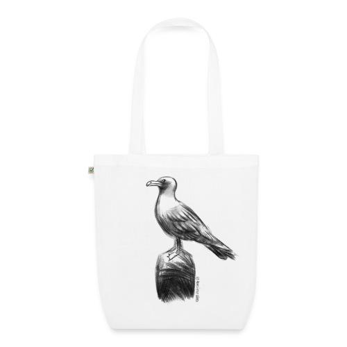 Möwe Design schwarz/weiß - Bio-Stoffbeutel