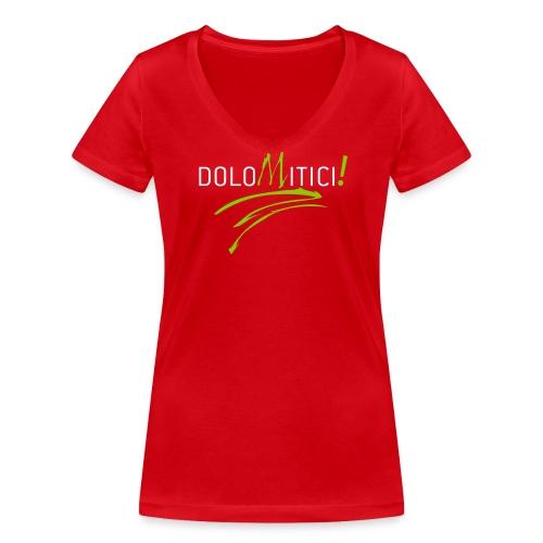 T-shirt ecologica da donna con scollo a V di Stanley & Stella per donna DoloMitici! - T-shirt ecologica da donna con scollo a V di Stanley & Stella