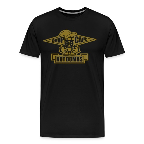 Drop Caps - Full Gold - Männer Premium T-Shirt
