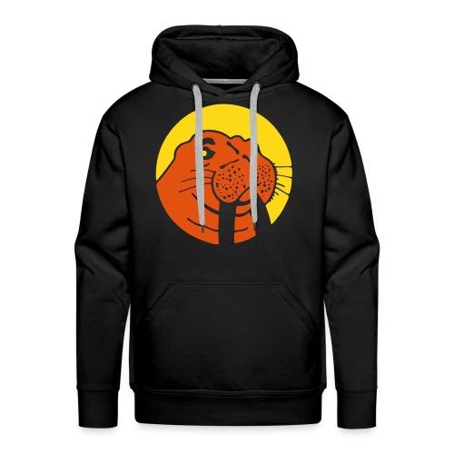 Hoodie Yellow/Orange Walu Logo - Men's Premium Hoodie