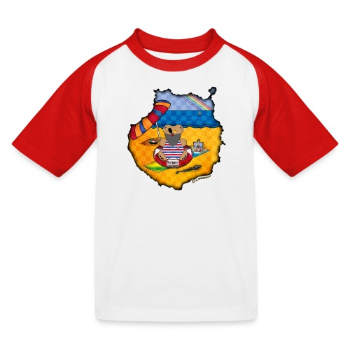 KinderShirt - Bärenlust macht Gran Canaria Urlaub - Kinder Baseball T-Shirt