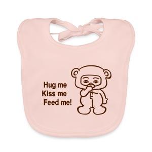 Babygirl bear - Bio-slabbetje voor baby's
