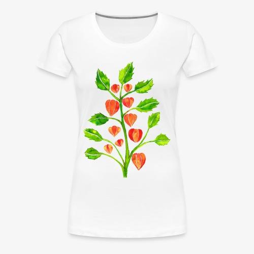 Lampionplant dames T-shirt - Vrouwen Premium T-shirt