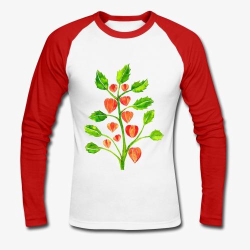 Lampionplant baseball shirt - Mannen baseballshirt lange mouw