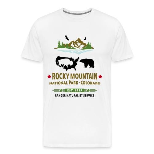 Rocky Mountain Nationalpark Berg Bison Grizzly Bär - Männer Premium T-Shirt