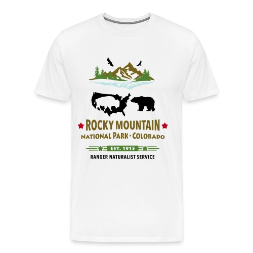 Rocky Mountain Nationalpark Berg Bison Grizzly Bär - Männer Premium T-Shirt