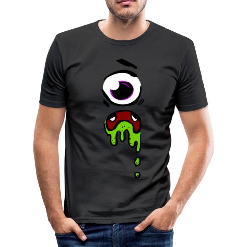 Grusel Auge Design - Männer Slim Fit T-Shirt