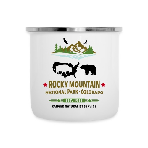 Rocky Mountain Nationalpark Berg Bison Grizzly Bär - Emaille-Tasse