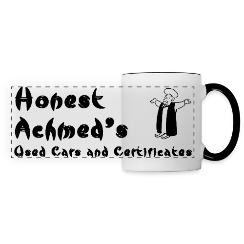 Honest Achmed Used Cars and Certificates Corporate Coffeemug - Panoramic Mug