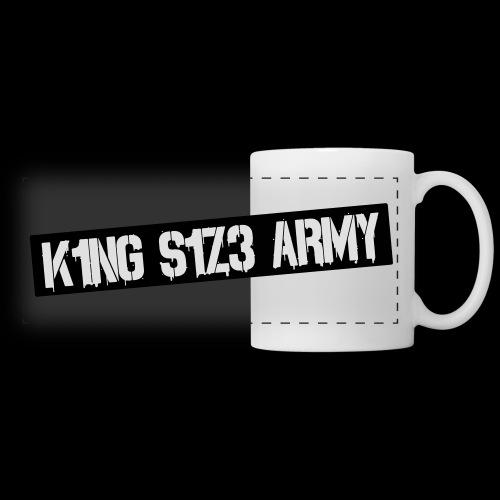 K1NG S1Z3 ARMY Tasse Weiß - Panoramatasse