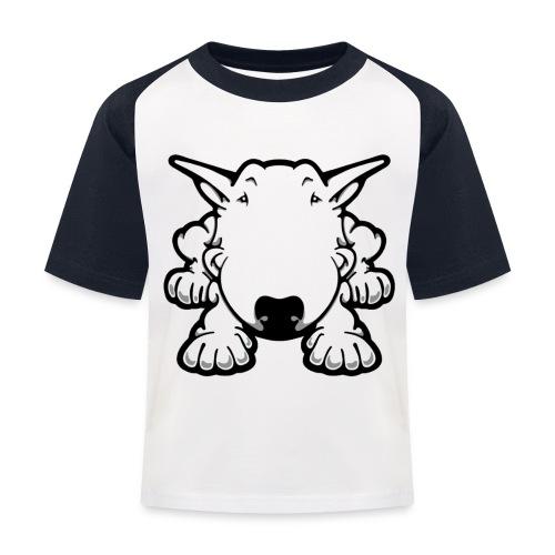 Bull Terrier Play - Kids' Baseball T-Shirt