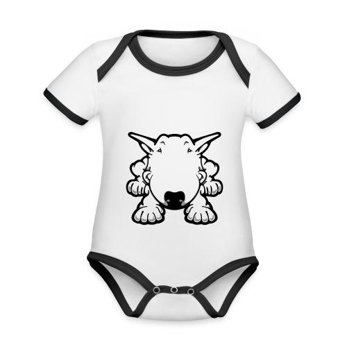 Bull Terrier Play - Organic Baby Contrasting Bodysuit
