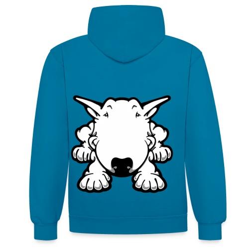 Bull Terrier Play - Contrast Colour Hoodie