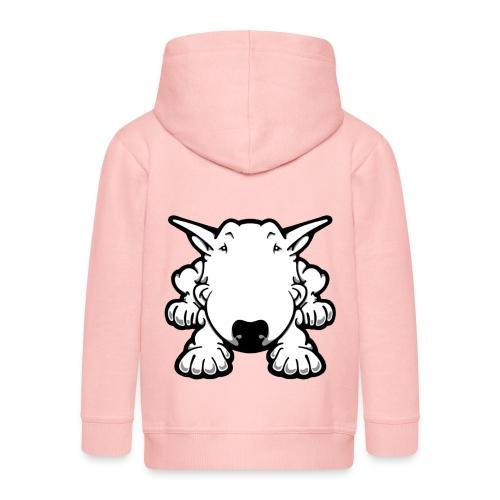 Bull Terrier Play - Kids' Premium Zip Hoodie