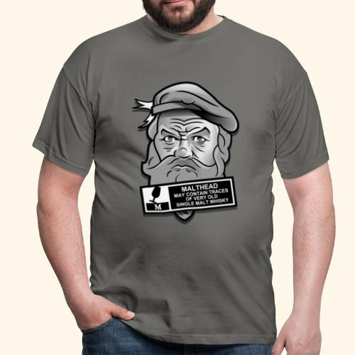 Whisky Fan T-Shirt Malthead Warning - Männer T-Shirt